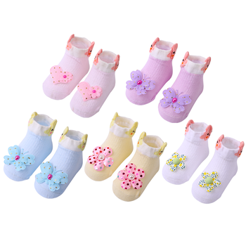 5 Pairs/lot Newborn Baby Socks Infant Cotton Socks Baby Girls Lovely Short Socks Clothes Accessories For 0-6,6-12,12-24 Month 2