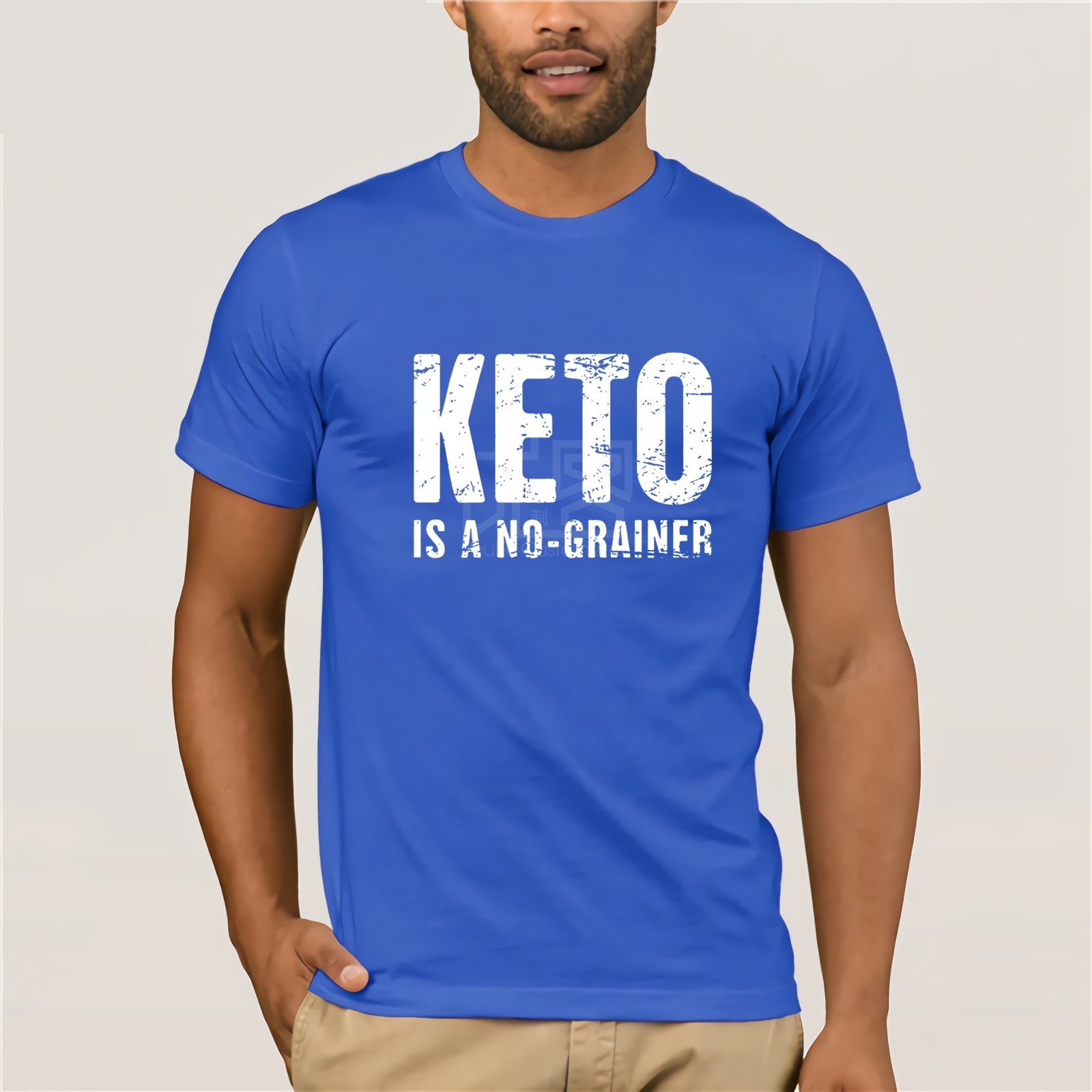 Keto Is A No Grainer t-shirt Classical Top Tee Letter Round Collar Tshirt For Men Clever 2018 Print Cute