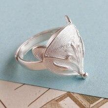 Fox Big 999 Sterling Silver Men Ring Finger Adjustable Punk Rings For Women Steampunk Luxury Jewelry Boho Handmade Unisex Ethnic