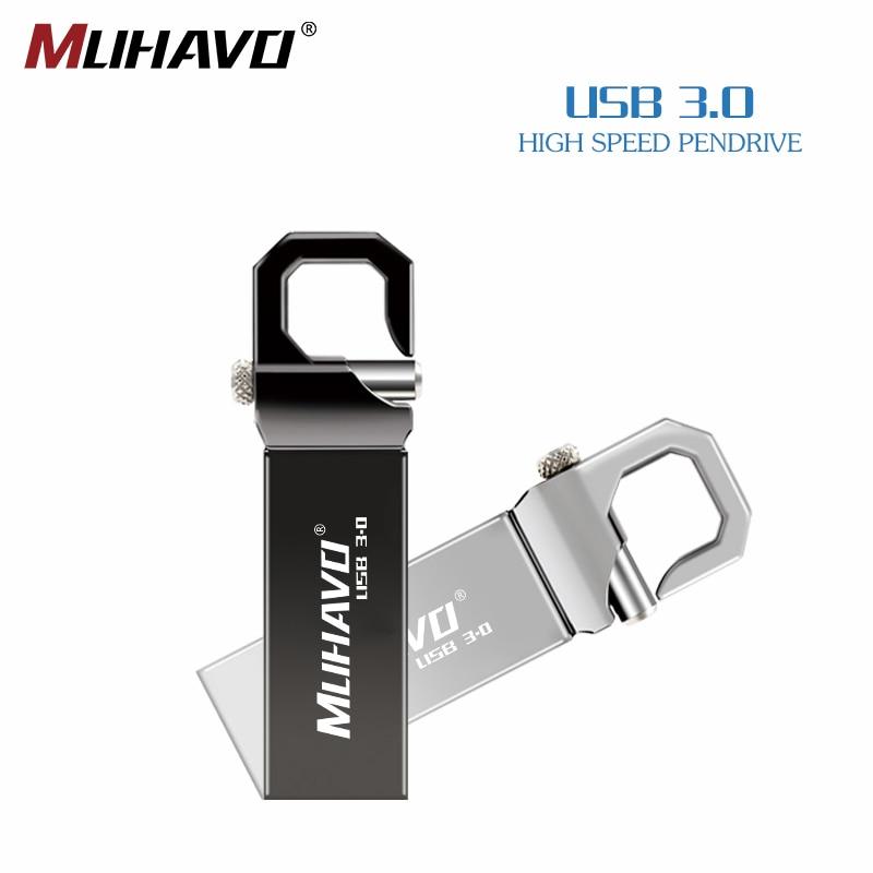 Usb Flash Drive 3.0 Waterproof Pen Drive 64gb 32gb 16gb 8gb Metal Pendrive 128gb High Speed Key Usb Flash 3.0 Free Print LOGO