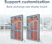 95 * 61cm indoor LED red programmable scrolling display board IR remote control display bank exchange rate board time and date 95% new good working for air conditioning display board remote control receiver board kfr 26gw bpy r d 3 1 1