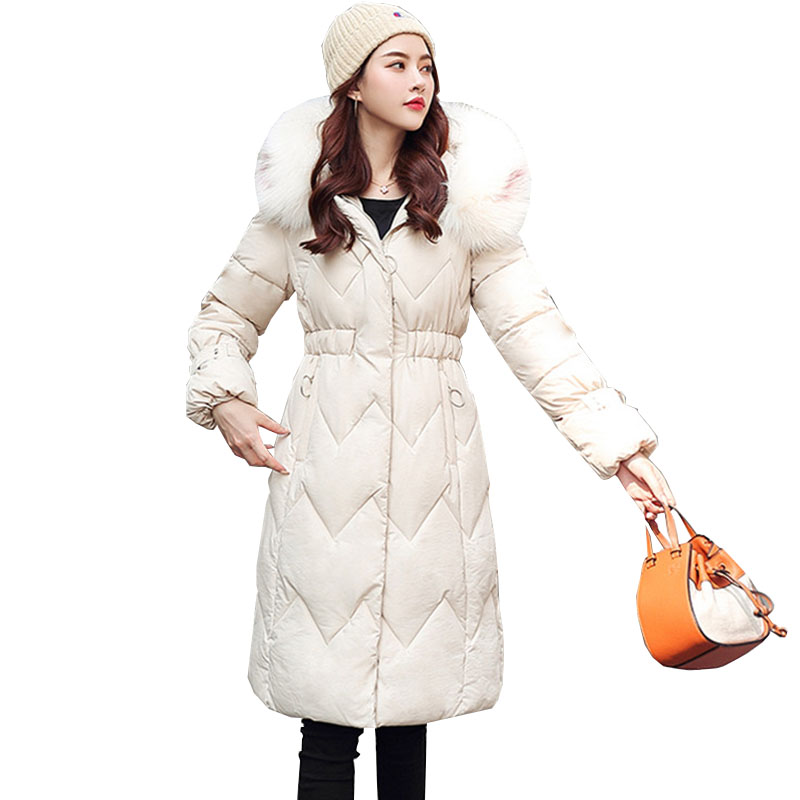 2019 New Autumn Winter Medium Length Women Parka Hooded Outwear Coat Jacket Solid Zipper Long Sleeve Thick Fashion Cotto