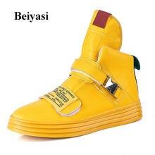 Новинка; Мужская обувь на плоской подошве; Желтая модная мужская