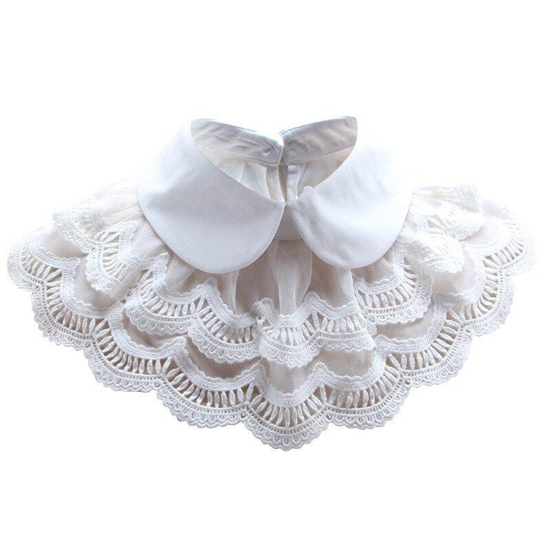 Hand Work Beautiful Black White Cloak Woman Shirt Dickie Detachable Fake Collar