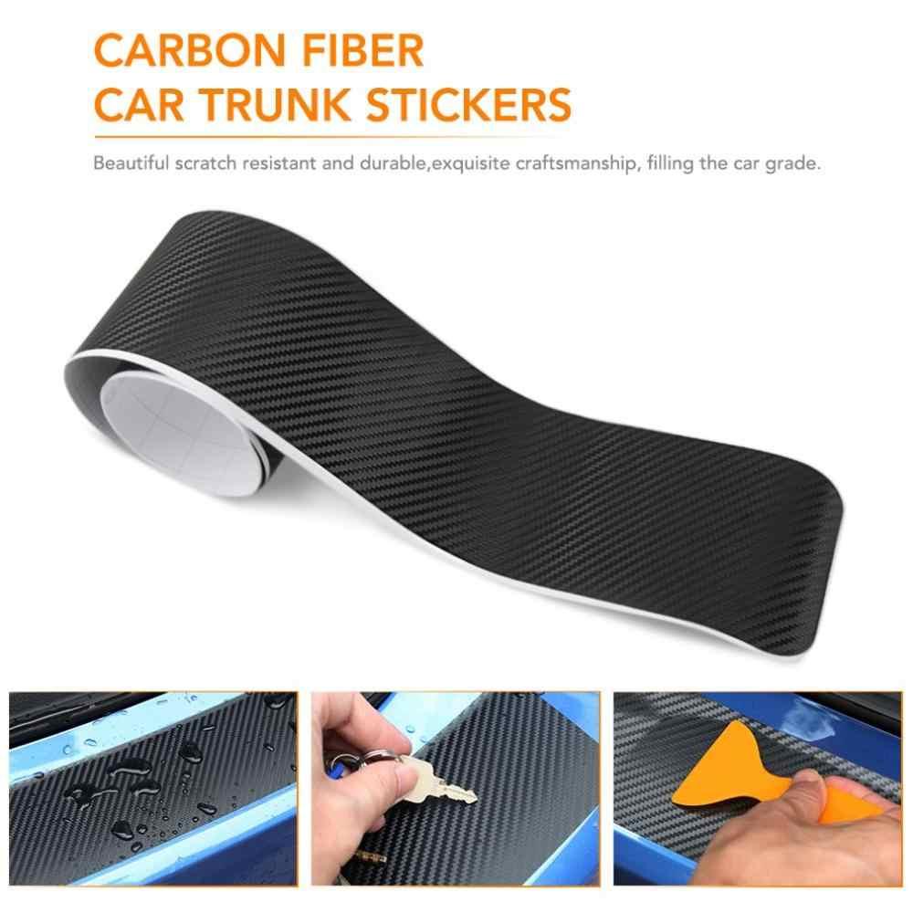 Voiture universel seuil en Fiber de carbone autocollants plaque de protection Anti-jeu Film protection Pad tronc pédale autocollants