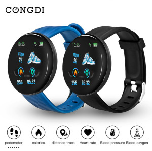 D18 Smart Watch Smart Bracelet Men Heart Rate Blood Pressure Bluetooth Smartwatch Fitness Tracker Health Wristband Waterproof(China)