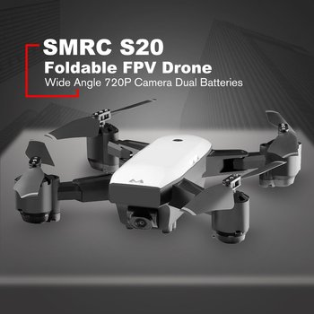 цена на SMRC S20 Foldable 6-axis Gyro FPV Drone RC Quadcopter With 360' Flips Wide Angle 720P Camera Altitude Hold Dual Batteries