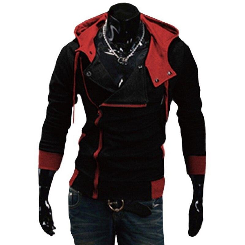 TANGYAXUAN 2019 Side Zipper Patchwork Hoodies Men Casual assasins creed Clothing mens hoodies and sweatshirts sudadera hombre 4
