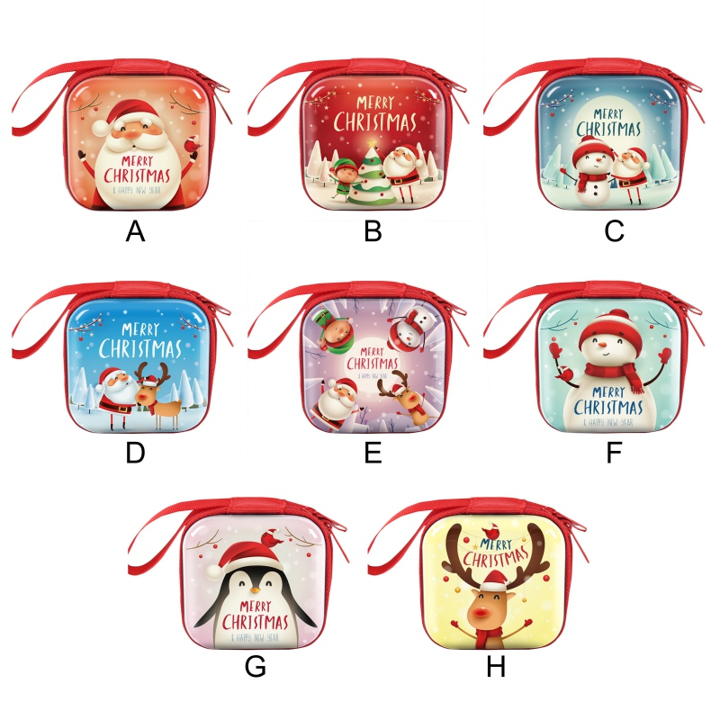 Creative Design 2020 Christmas Kid Gift Santa Claus Coin Purse For Candy Children Pocket Small Money Wallet Pouch Zip Coin Bag