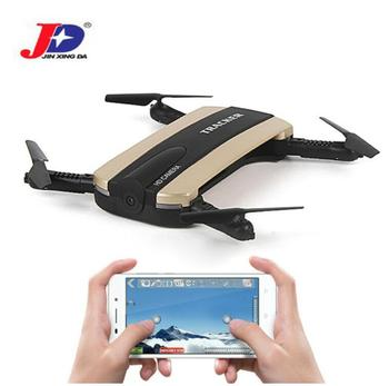 JXD 523 Tracker Foldable Mini Rc Selfie Drone HD camera WIFI FPV Helicopter Altitude Hold&Headless Mode RC Quadcopter