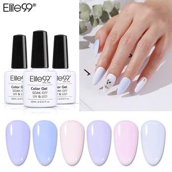 Elite99 10ml Licht Farbe UV Gel Polish Soak Off UV LED Lack Hybrid Für Maniküre Semi Permanent Gel Nagel polnischen Farbe Nagel Kunst