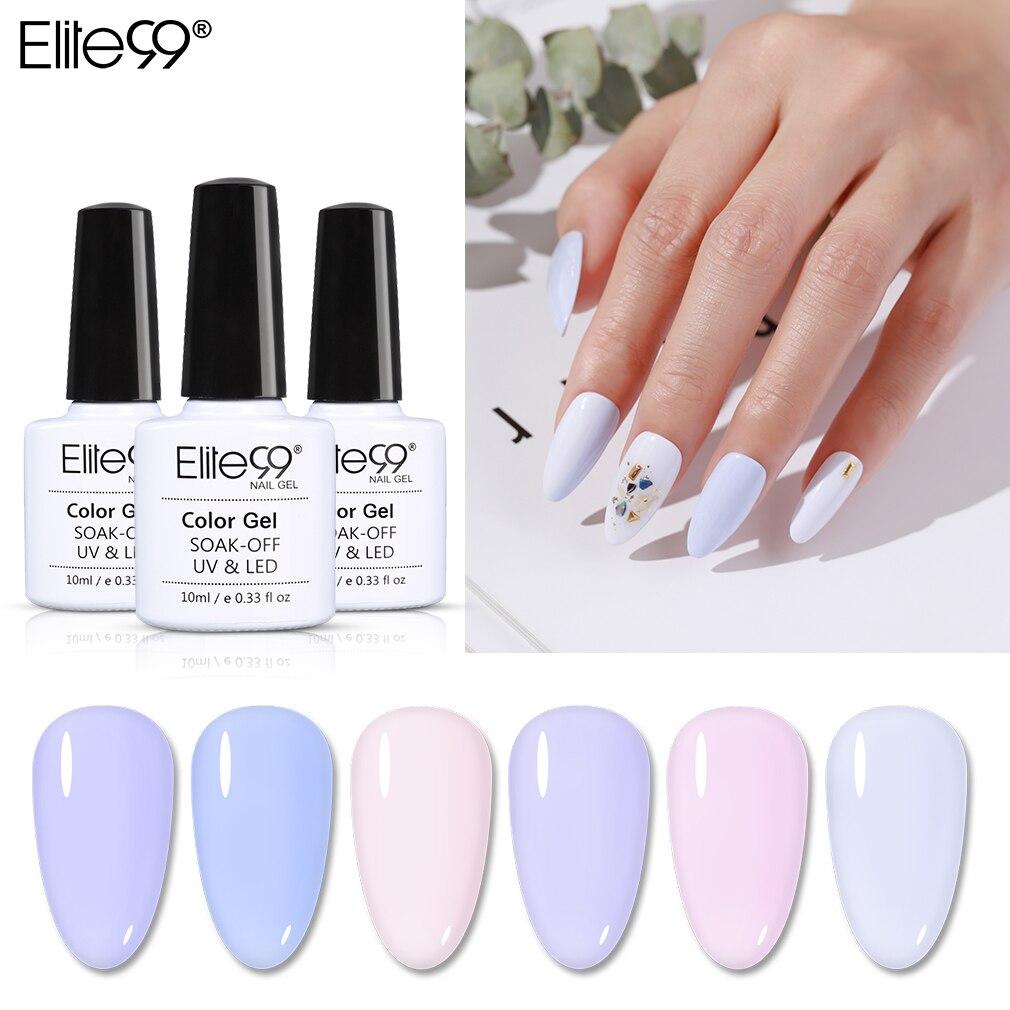 Elite99 10ml Light Color UV Gel Polish Soak Off UV LED Varnish Hybrid For Manicure Semi Permanent Gel Nail Polish Paint Nail Art