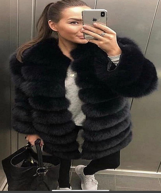 2020 Real Fox Fur Coat Women Natural Real Fur Jackets Vest  Winter Outerwear Women Clothes 2