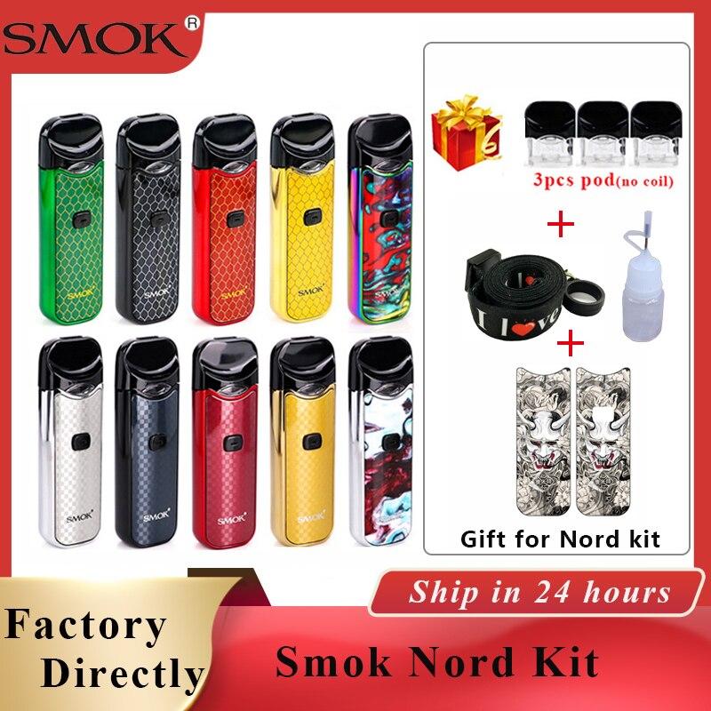 Nord Vape Pod Smok Nord Pod Kit 1100mAh & 3ML Pod Cartridge Electronic Cigarette Pod Vape Pen Kit Vs Smok Novo Vapor Kit