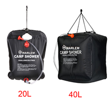 20L/40L Water Bag Foldable Solar Energy Heated Bathing PVC Shower Outdoor Camping Travel Hiking BBQ Picnic Storage
