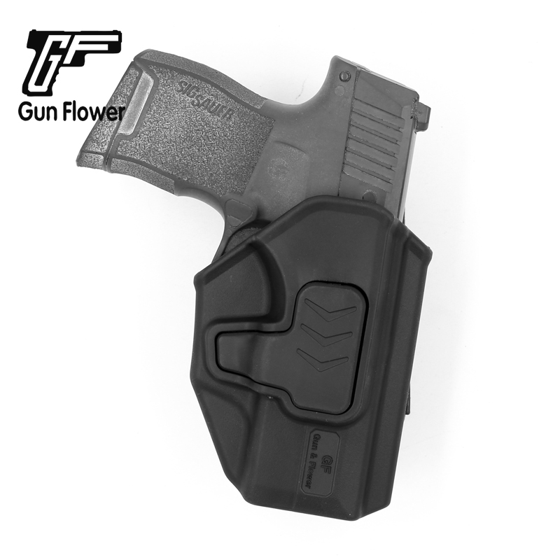 Fora da Cintura Coldre de Plástico Titular da Pistola de Polímero Case para Sig Arma Flor Carry Belt Militar Grau P365 &