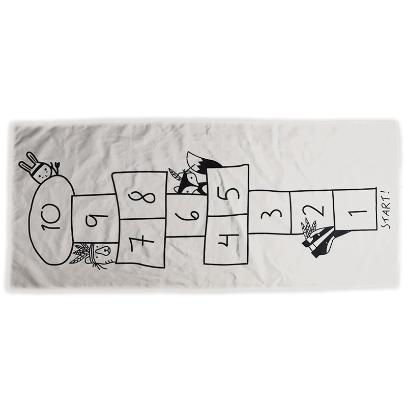 Baby Hopscotch Game Mat Kids Activity Play Gym Mats Cartoon Printing Children Infant Adventure Rug Road Carpet Crawling Blanket
