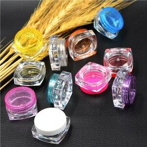 Image 5 - Пустые квадратные банки для образцов, 100 шт., 3g/Φ, для макияжа, косметики, крема для лица, пигмента, дизайна ногтей, креативный подарок