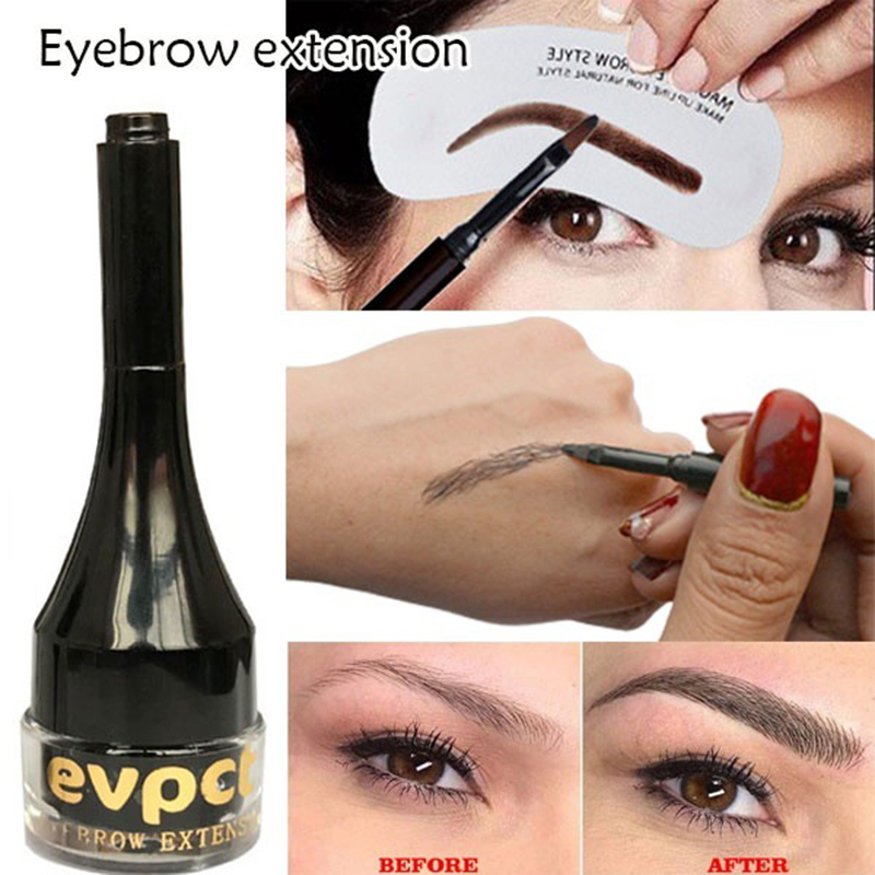 Evpct 2 Colors Brow Cream Eyebrow Hair Extensions Natural Fiber Building Brow Hair Gel Enhancer Cosmetic Eye Makeup Unisex TSFH image