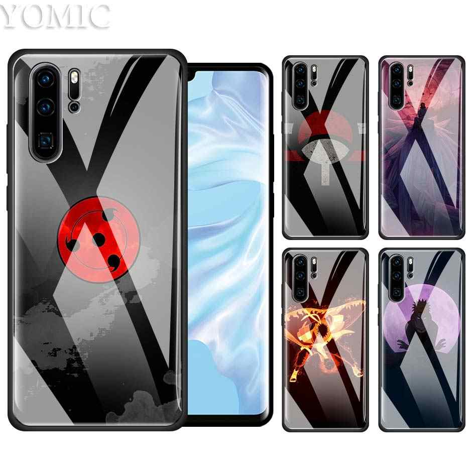Naruto Shippuuden Case for Huawei P20 P30 P10 Honor 8X 20Pro Mate 10 20 Lite Pro Black TPU + Tempered Glass Anime Phone Covers