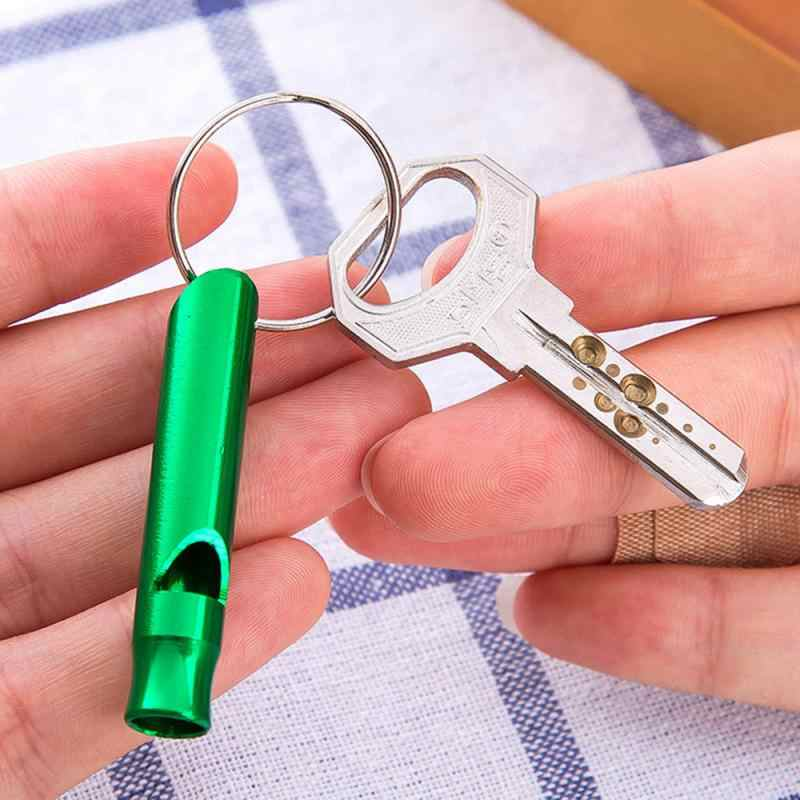 1 szt. Camping piesze wycieczki gwizdek mały rozmiar aluminiowy gwizdek awaryjny odkryty narzędzia EDC Train Whistle