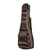21-дюймовое в этническом стиле Стиль Регулируемый миниатюрная гитара укулеле сумка