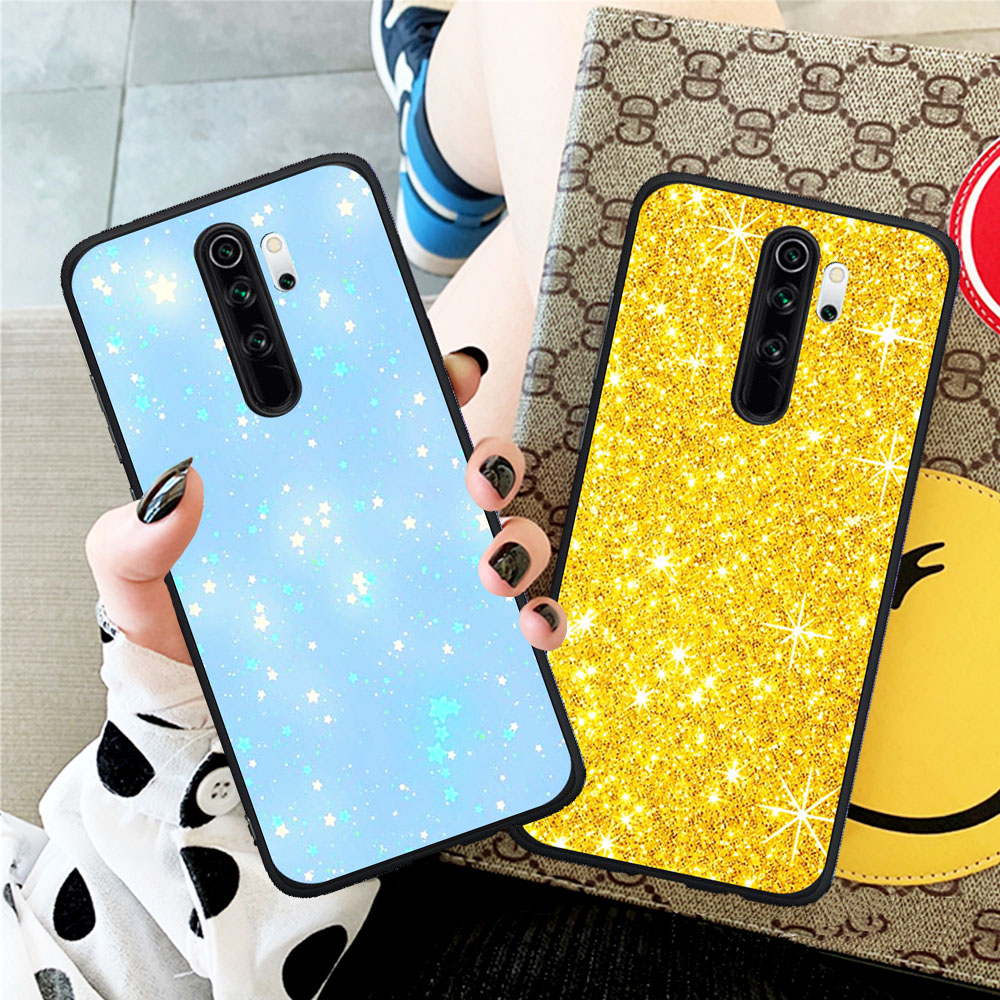 Fashion Cool Best Pastel Sparkle Glitter Phone Case Etui Fundas Capa For Xiaomi Redmi Note 5 6 Pro 7 8 8 Pro Mi 9T Pro K20 Pro