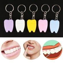 1 pc portátil dental floss com chaveiro fio de náilon dentes cleaner viagem oral hygience accesses cor aleatória 15m novo