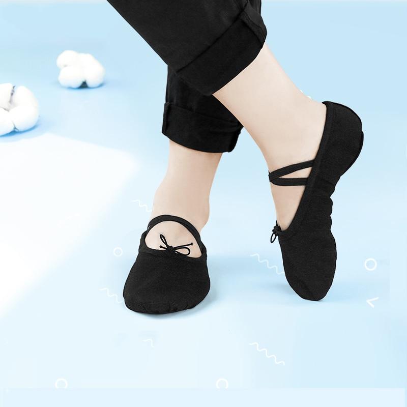 Professional Boys Ballet Dance Shoes Men Adult Soft Canvas Practice Dance Shoes Leather Sole Ballerina Shoes