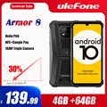 Ulefone Rüstung 8 Robuste Handy NFC Android 10 Helio P60 4GB + 64GB 16MP Triple Kamera Octa-core 6.1 ''Wasserdichte Smartphone