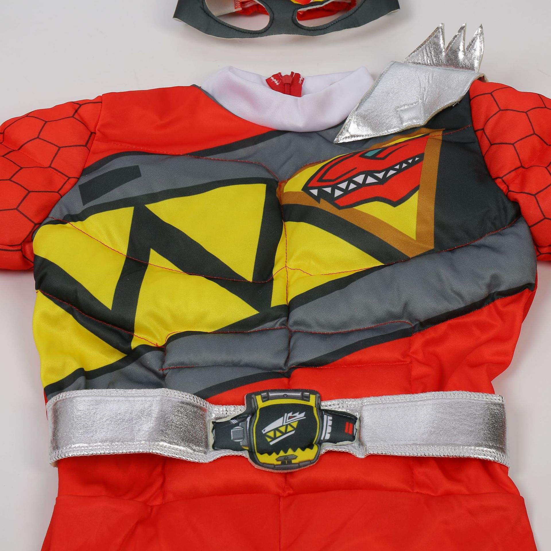 Red Power Dino Charge Boys Muscle Costume 5