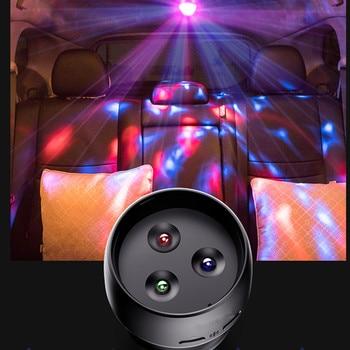 DJ Disco Party Light Led RGB Atmosphere Light Auto Interior Inner Car USB Ambient Light DJ Music Sound Sensor Party Karaoke Led usb led car atmosphere ambient star light dj rgb colorful music sound lamp interior decorative light
