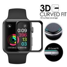 Vidro templered para apple watch 44mm iwatch série 5 4 3 2 1 todas as versões proteger 100% a tela 42mm 40mm 38mm todo o tamanho