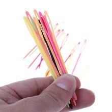 10 sztuk plastikowe szydełko druty do robienia na drutach bezpieczne dziecko Kid splot szycia Knitting igła haft krzyżykowy Bodkin sweter szalik