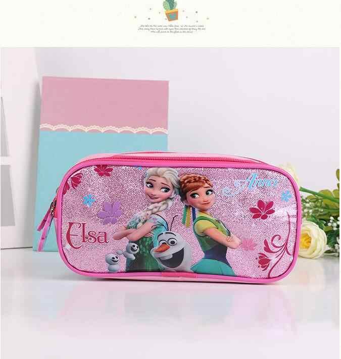 3 pçs princesa disney crianças mochila almoço elsa saco lápis dos desenhos animados caso congelado bolsa menina menino presente saco para a escola estudante