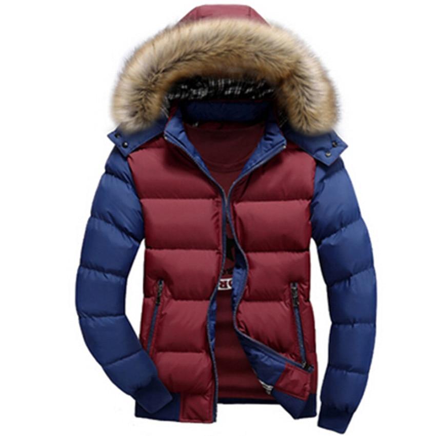 Hot Sell Winter Men's Coats Male Parkas Thick Hooded Fur Collar Parka Men Fleece Jackets Warm Outwear Male Overcoats 5XL 6XL 7XL