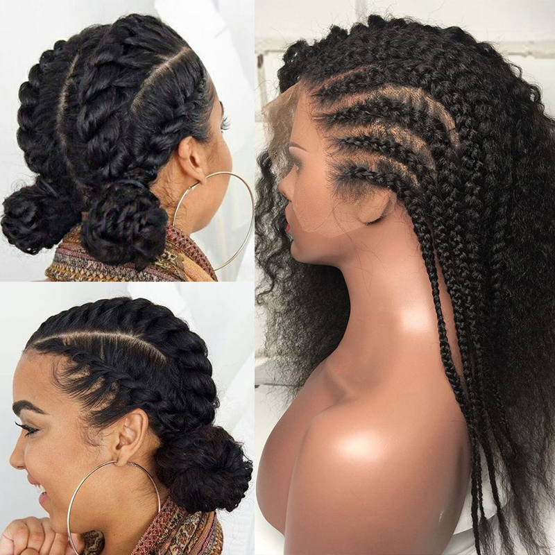 13X6 Curly Lace Front Human Hair Wigs 250 Density Brazilian Glueless Lace Frontal Wig Pre Plucked With Baby Hair Remy EverBeauty