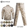 HAN WILD Military Uniform Jungle Camouflage Combat Airsoft Tactical Jacket Pants Clothing Set ACU CP Army Suit Dropshipping 1