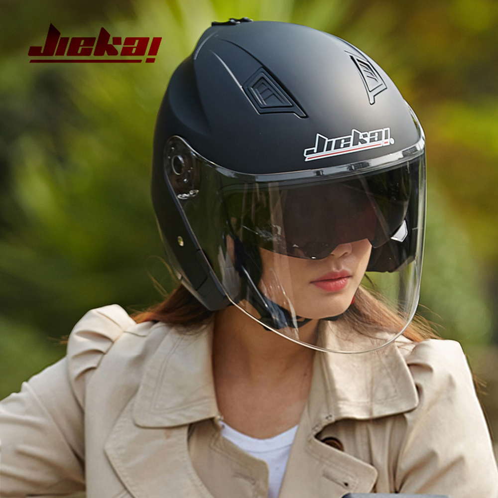 Motorbike Casco Go Kart Scooter Motor Van Motorcycle Dual Lens Vintage Helmets Four Seasons Racing Half Helmets Casque Helmet 1