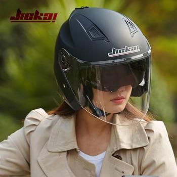 Motorbike Casco Go Kart Scooter Motor Van Motorcycle Dual Lens Vintage Helmets Four Seasons Racing Half Helmets Casque Helmet
