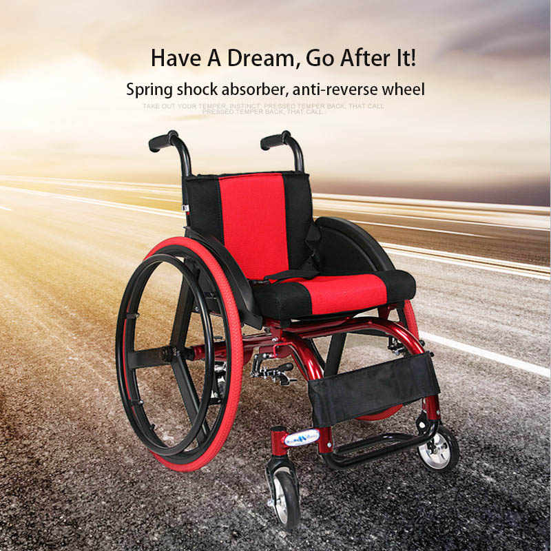 Wheelchair Sports Leisure Wheelchair Folding Portable Carrying Ultra-Light Aluminum Alloy Quick-Disassembly Rear Wheel Chair