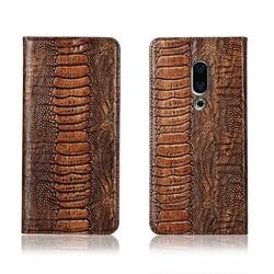 На Алиэкспресс купить чехол для смартфона ostrich foot pattern genuine leahther phone bag for meizu 16th plus magnetic phone case for meizu 16th flip cover funda case