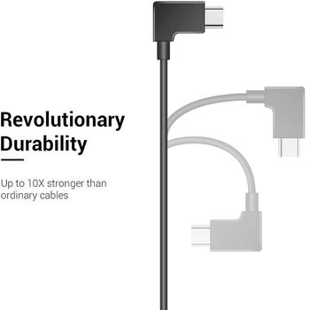 Micro USB to Type C Micro USB3.1 Data Cable 90 Degree OTG Right Angle Cable Cord 1ft