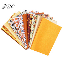 JOJO BOWS 22*30cm 10pcs Faux Synthetic Leather Glitter Fabric sheet Holiday Party Decoration DIY Hairbow Handmade Craft Supplies