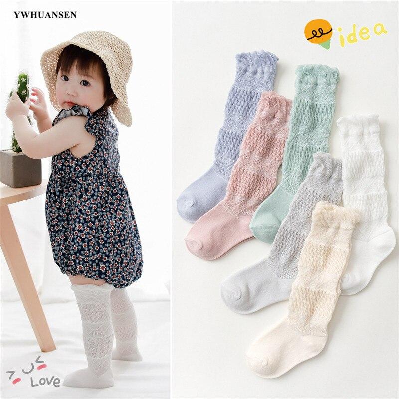 YWHUANSEN 0 To 2 Yrs Summer Baby Girls Boys Knee High Socks Toddler Warm Cotton Stockings Breathable Mesh Long Socks For Newborn