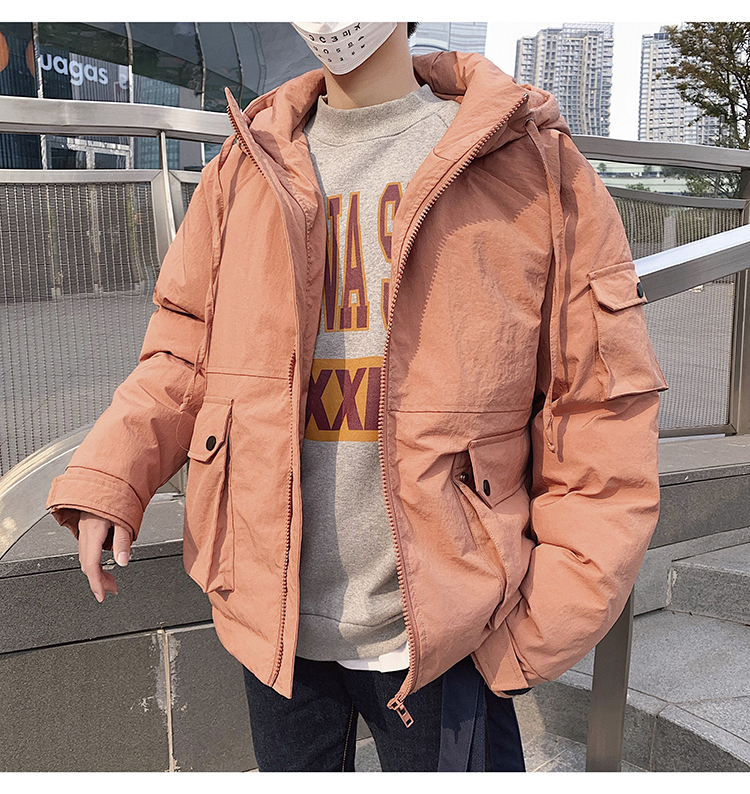 Men's Quality Student Winter Clothes Jacket Men Parka Thick Warm Outwear Korean Youth Streetwear Hip Hop Japan Style Harajuku 9