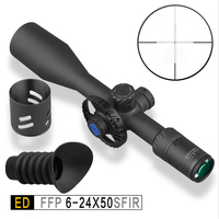 Discovery ED 6 24 x50 .50BMG Riflescope Sights Tactical for Air Guns Rifle FFP Scope Sights Optics for Hunting