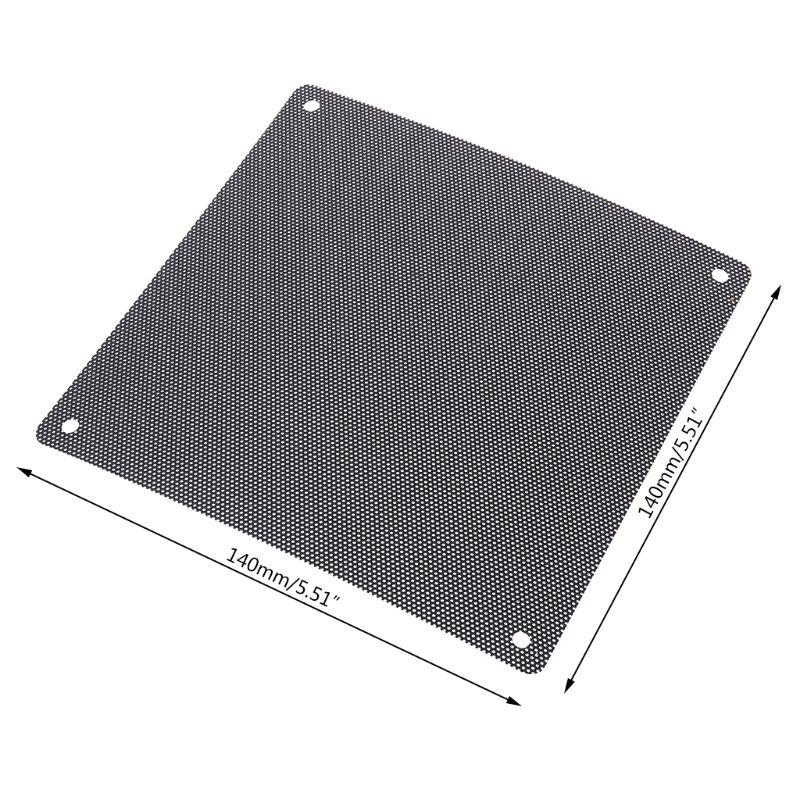 Black PC Fan PVC Dust Filter Reducer Dustproof Computer Cooler Cover Mesh Protective Tool
