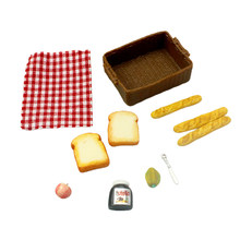 Gift Kitchen Decoration Artificial Dollhouse Miniature Mini Bread Basket Food Model Accessories Play Ornament Small Pretend Toy(China)