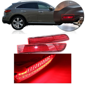 Kamshing para Nissan Juke Murano Quest Sentra Infiniti FX35 FX37 FX50 LED parachoques Reflector luz trasera Foglight lámpara de freno
